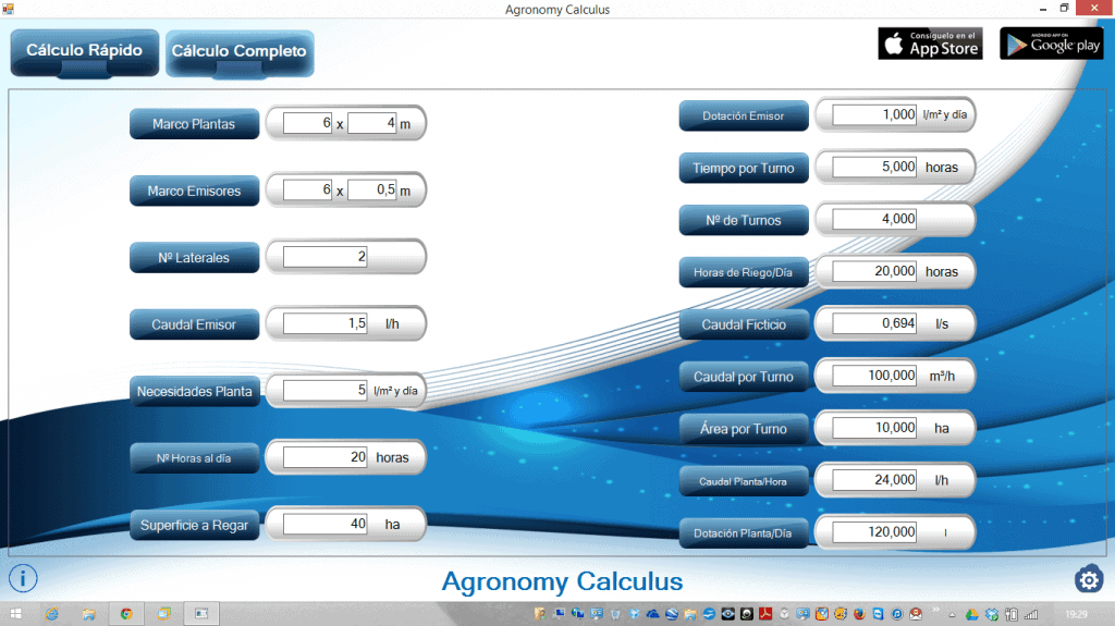 Agronomy Calculus ya disponible en Windows
