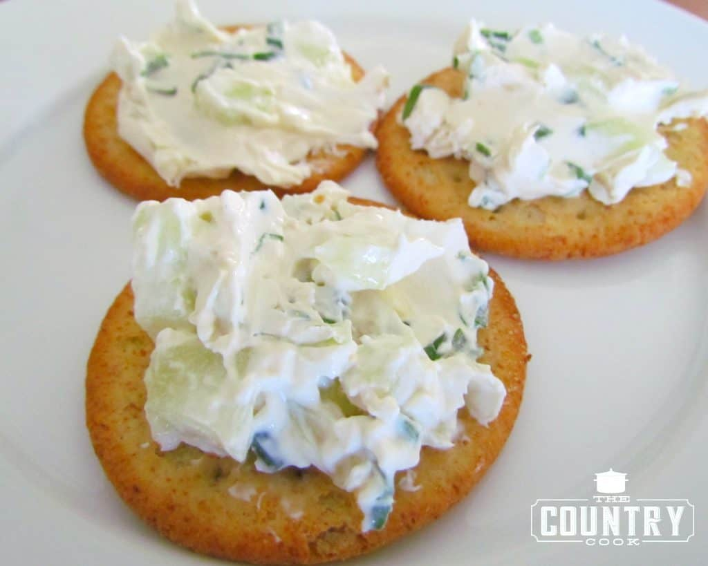 Cucumber Cream Cheese Spread low carb