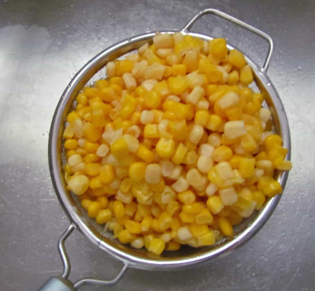 drained canned corn
