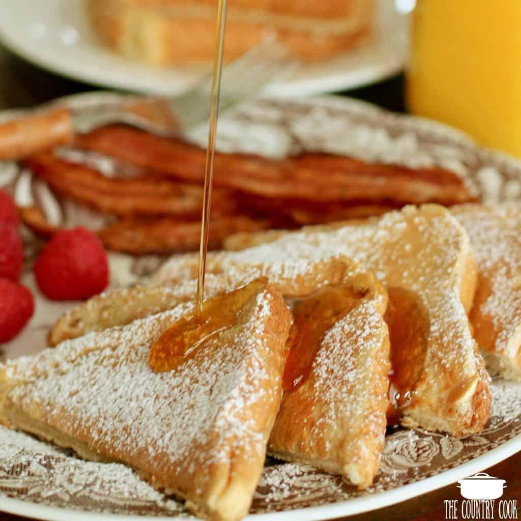 Pancake coated Fluffy French Toast