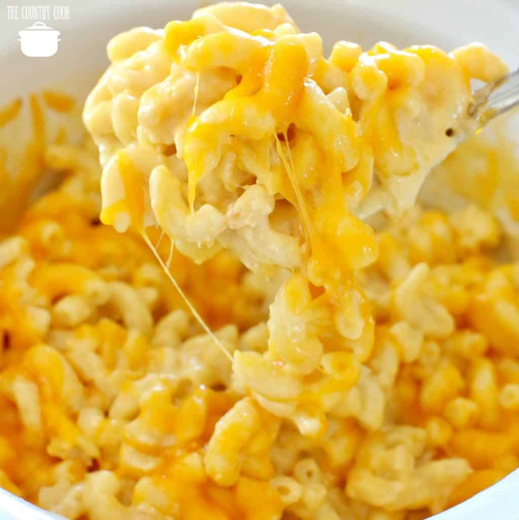 Crock Pot Macaroni and Cheese recipe from The Country Cook
