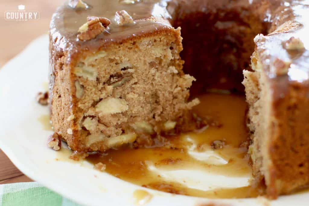 raw apple cake fresh apple cake with caramel glaze the country cook 6962
