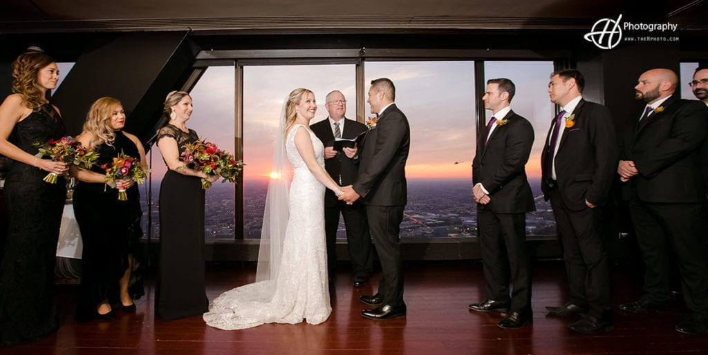 sunset at ceremony