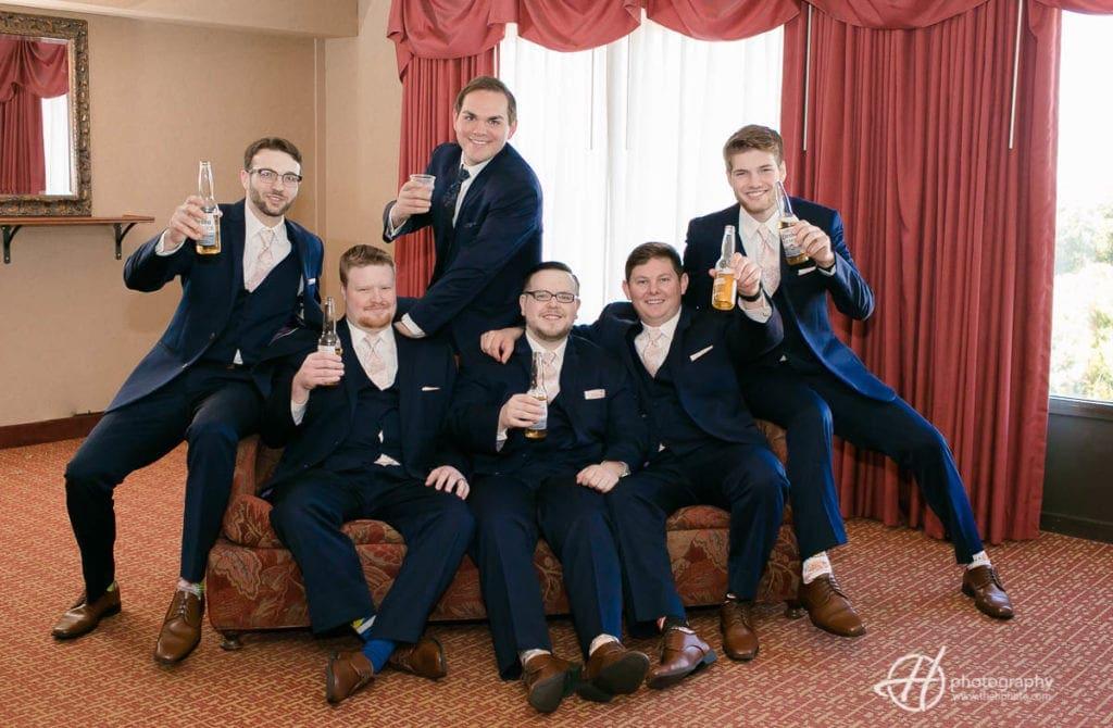 drinking groomsmen