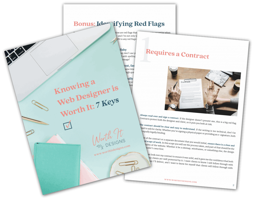 Pages of the Knowing a Web Designer is Worth It PDF