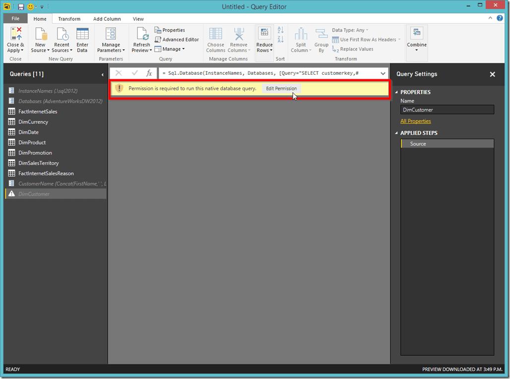 Power BI Desktop Edit Permission