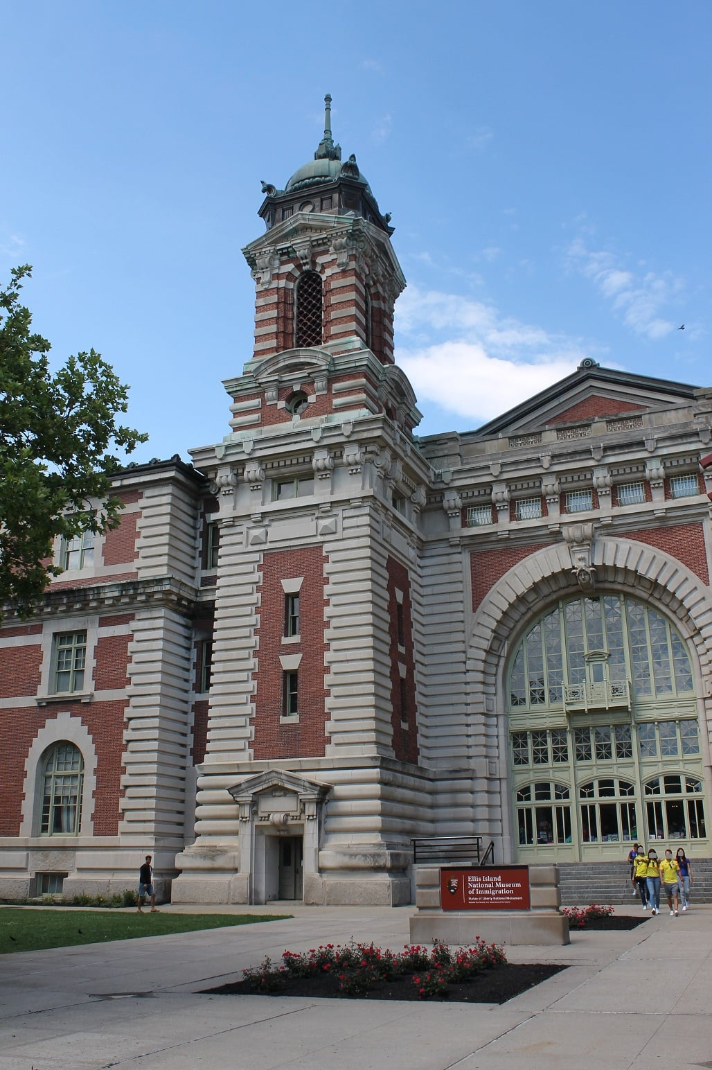 View of Ellis Island building for family research