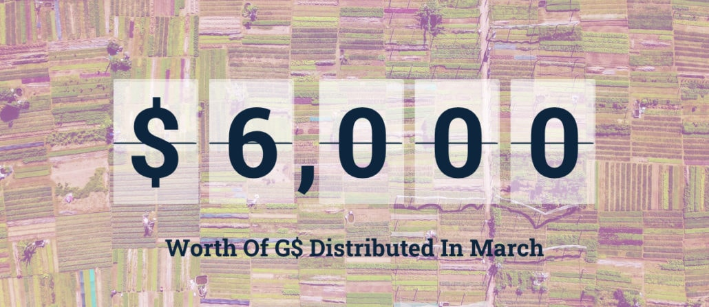 $6,000 worth of G$ distributed in march