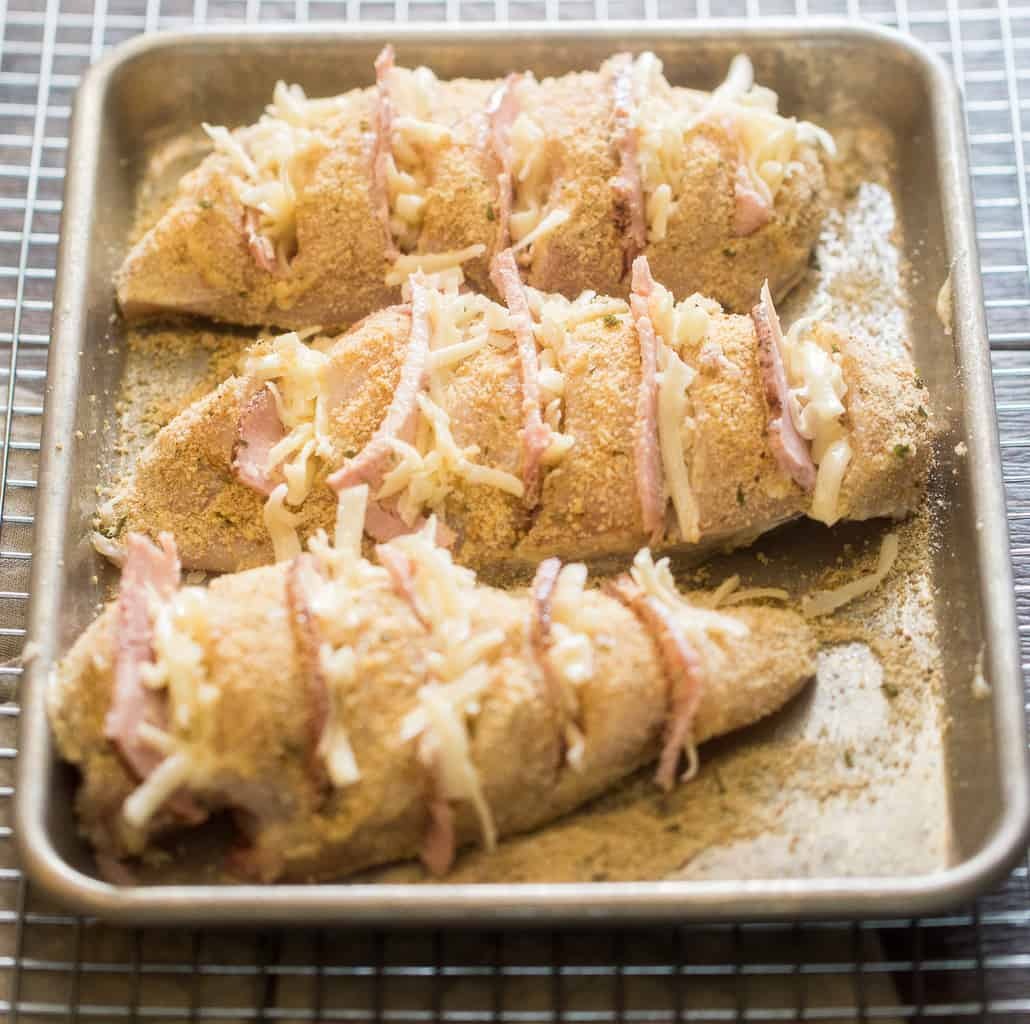 How to make chicken cordon bleu - step 3