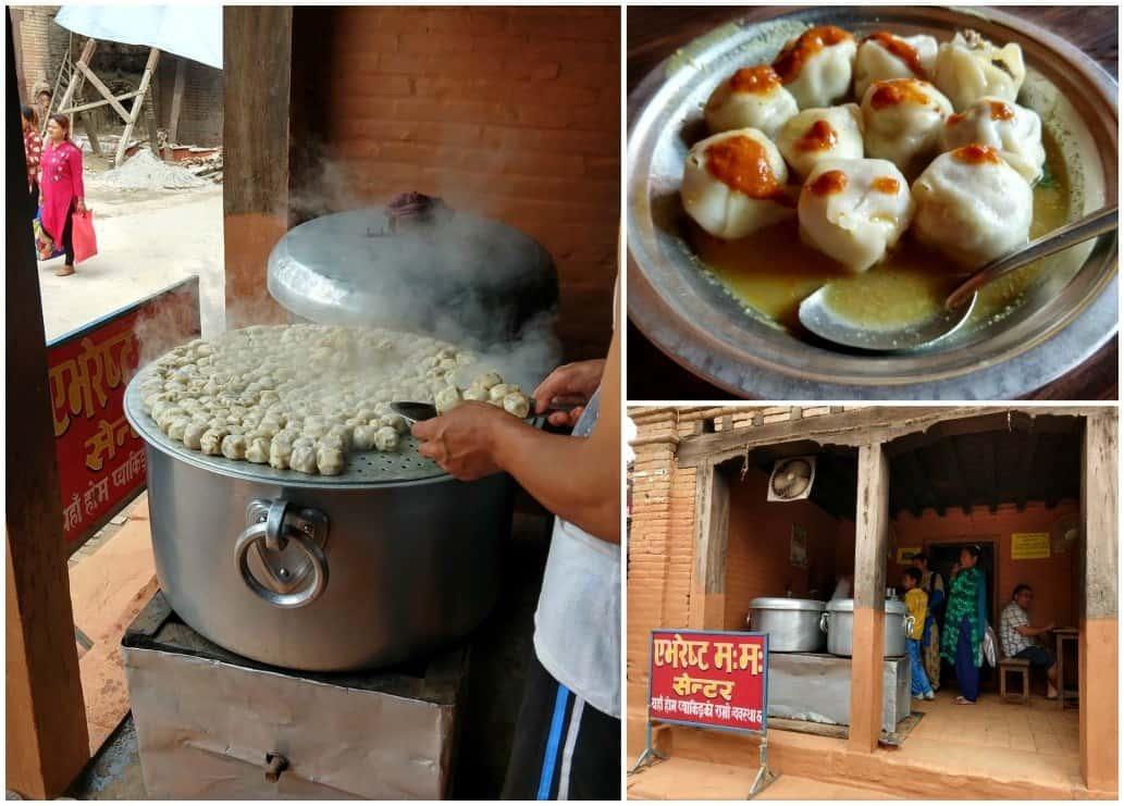 Bhaktapur Nepal Momo shop