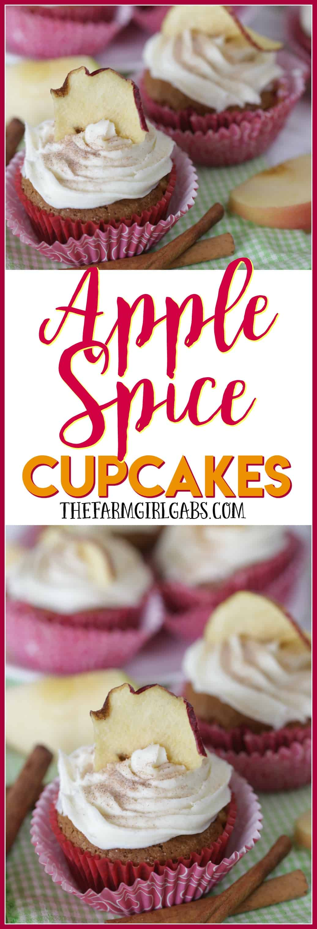 These easy Apple Spice Cupcakes are full of sweet apples and lots of spice. They are the perfect fall treat. #Ad #FunWithFrosting #DoughboySurprise