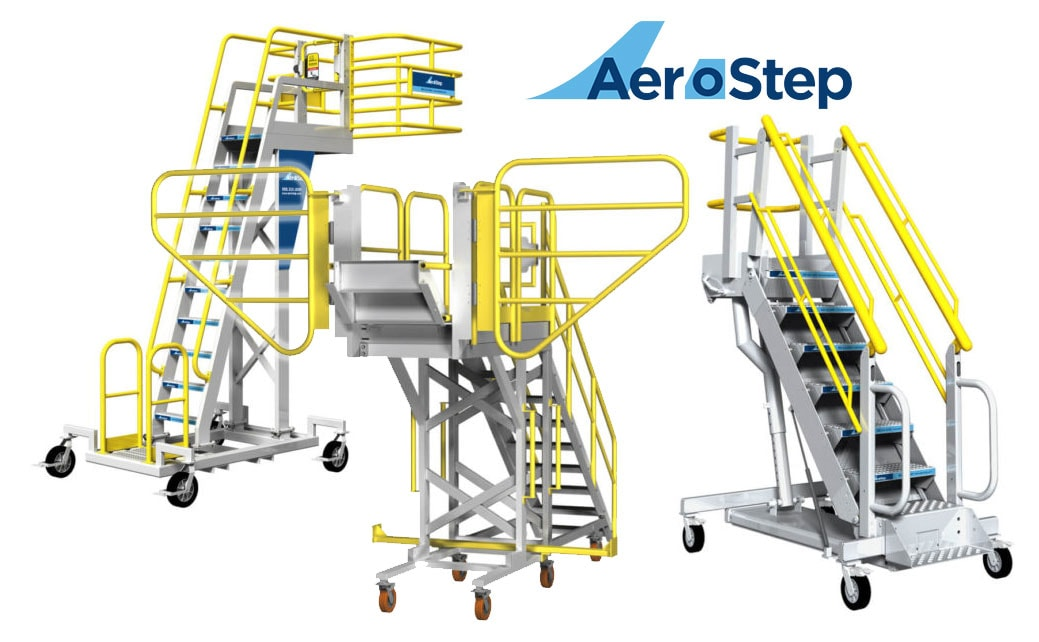 Rolling Access Tooling Platform Equipment w/ Rolling Stairs