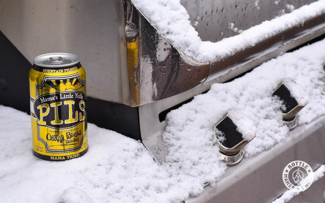 Mama's Little Yella Pils from Oskar Blues Brewery.