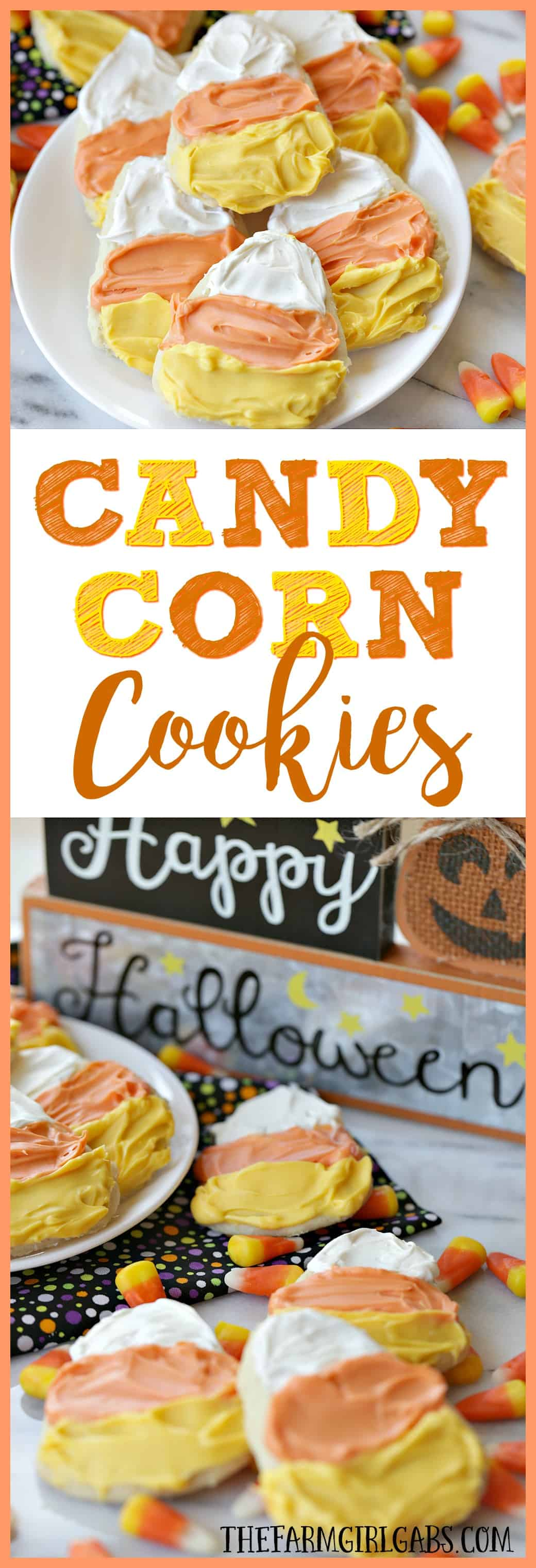 It's not fall without candy corn! These Candy Corn Cookies are a fun Halloween treat you can easily make. This recipe will be a hit at your fall or Halloween party!