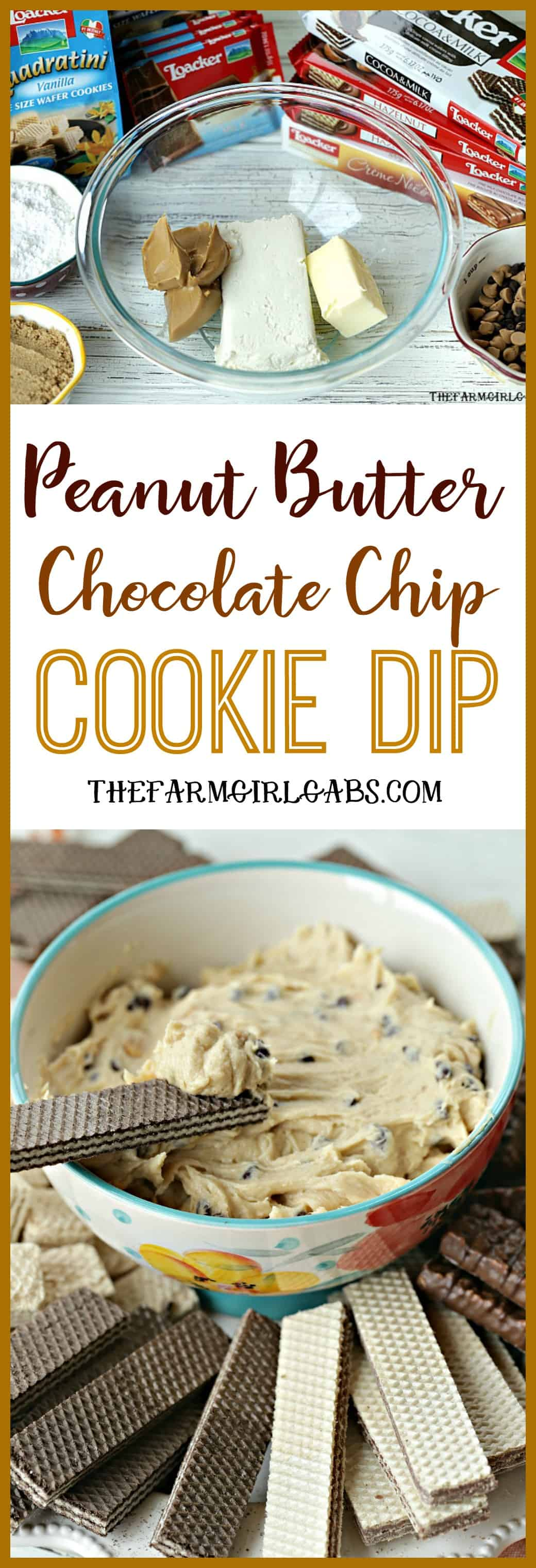 Serve this yummy Peanut Butter Chocolate Chip Cookie Dip at your next party. It's perfect for dessert. #Ad #LoackerLove #dip #dessert #cookiediprecipe