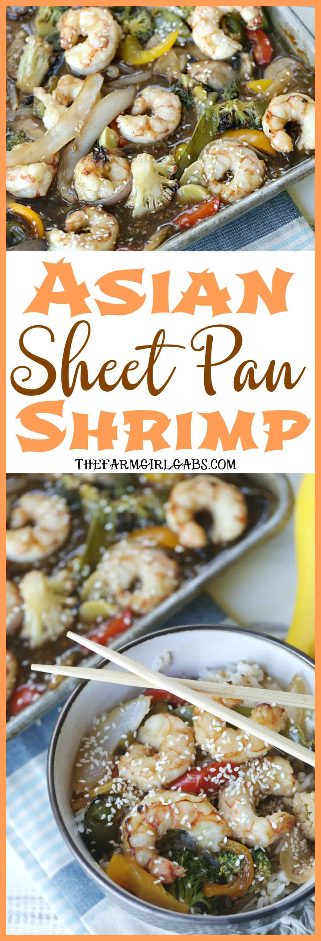 This quick and easy Asian Sheet Pan Shrimp dinner is perfect for Fish Fridays during the Lenten season. #wpseafood #seafood #maindish #shrimprecipe #dinnerideas
