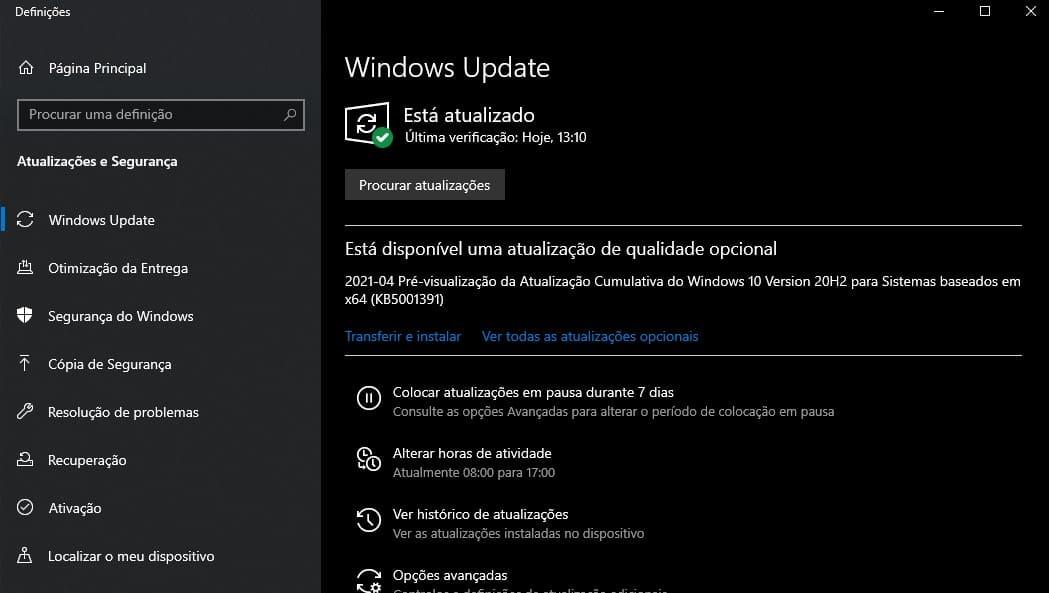 Windows update maio 2021