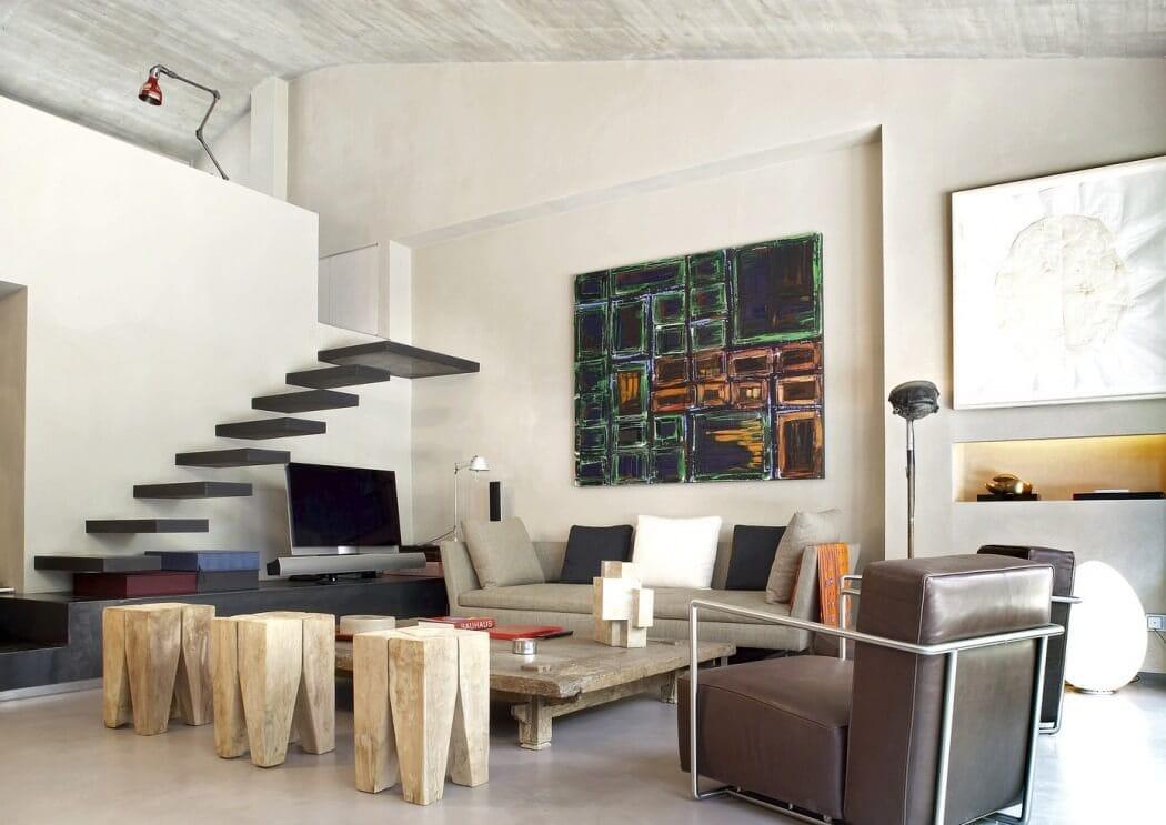 Barceloński apartament w wersji industrial