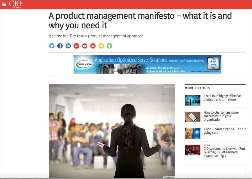 A product management manifesto