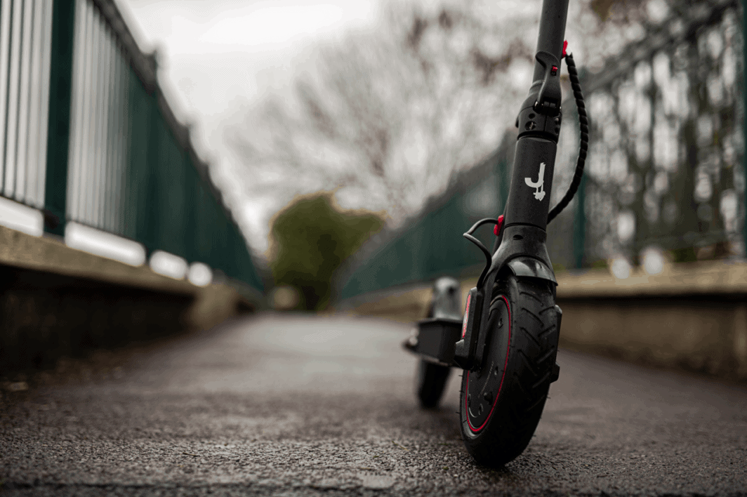 electric scooter on footpath
