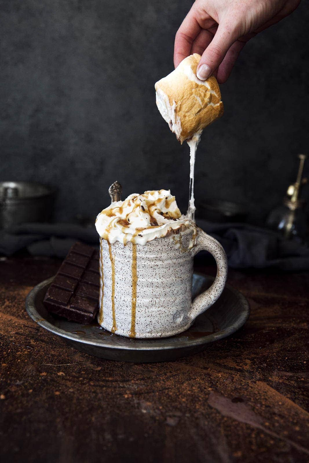 Who says mornings can't be delicious and better for you? This skinny caramel mocha is only 160 calories, including whipped cream!