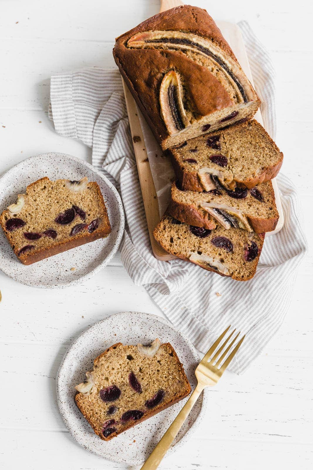 Bourbon Banana Cherry Bread
