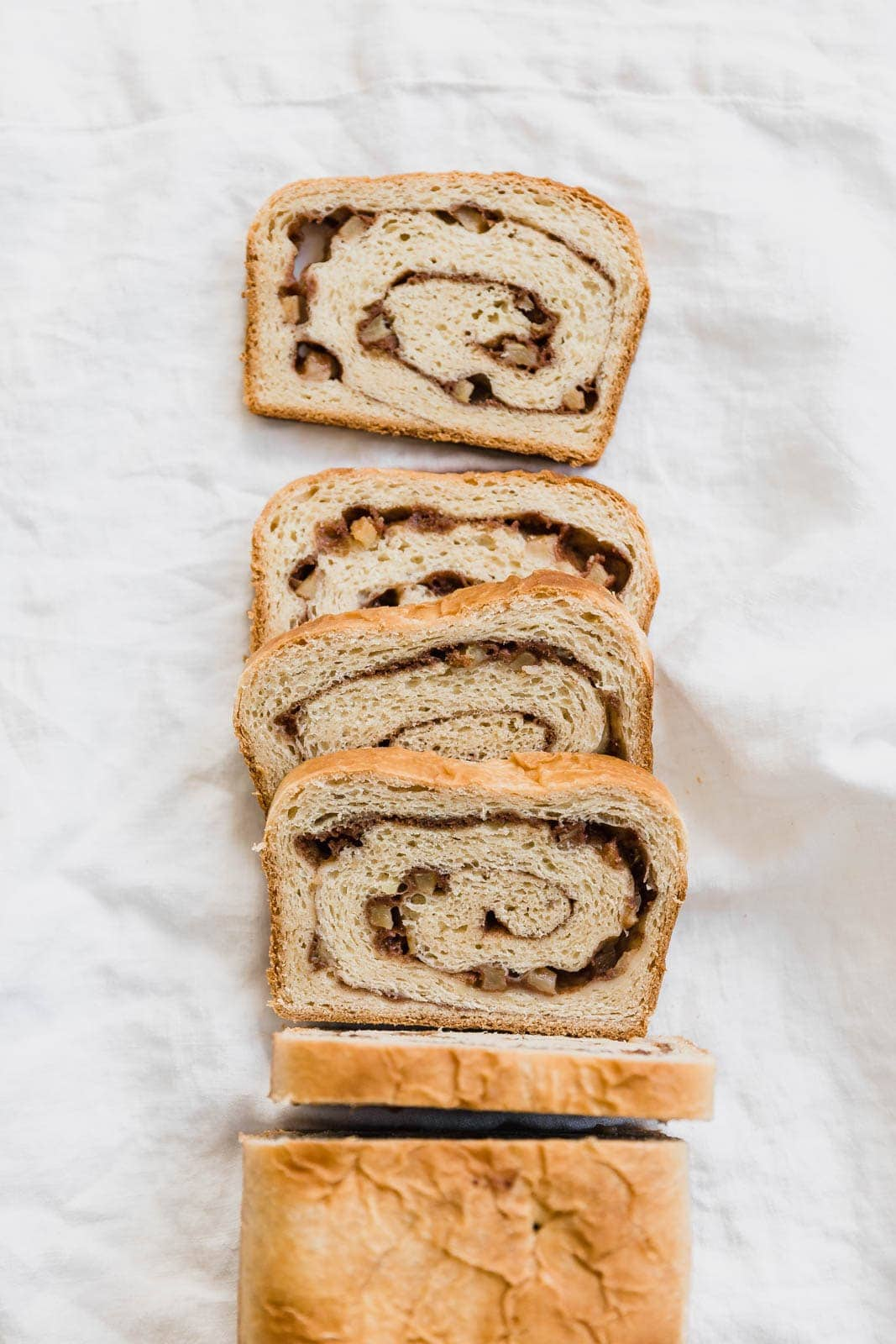 cinnamon swirl bread slices