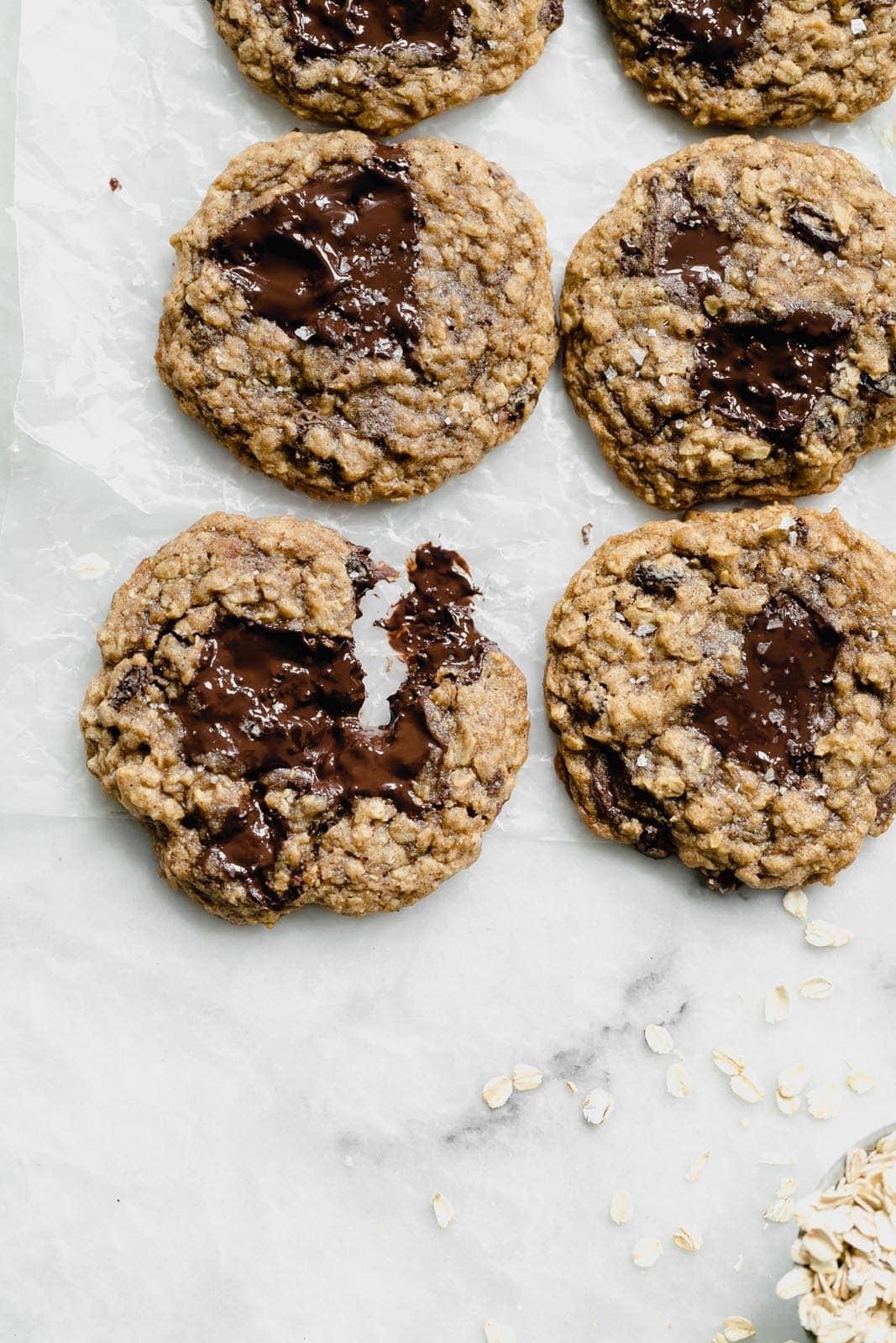 best oatmeal raisin cookies on countertop
