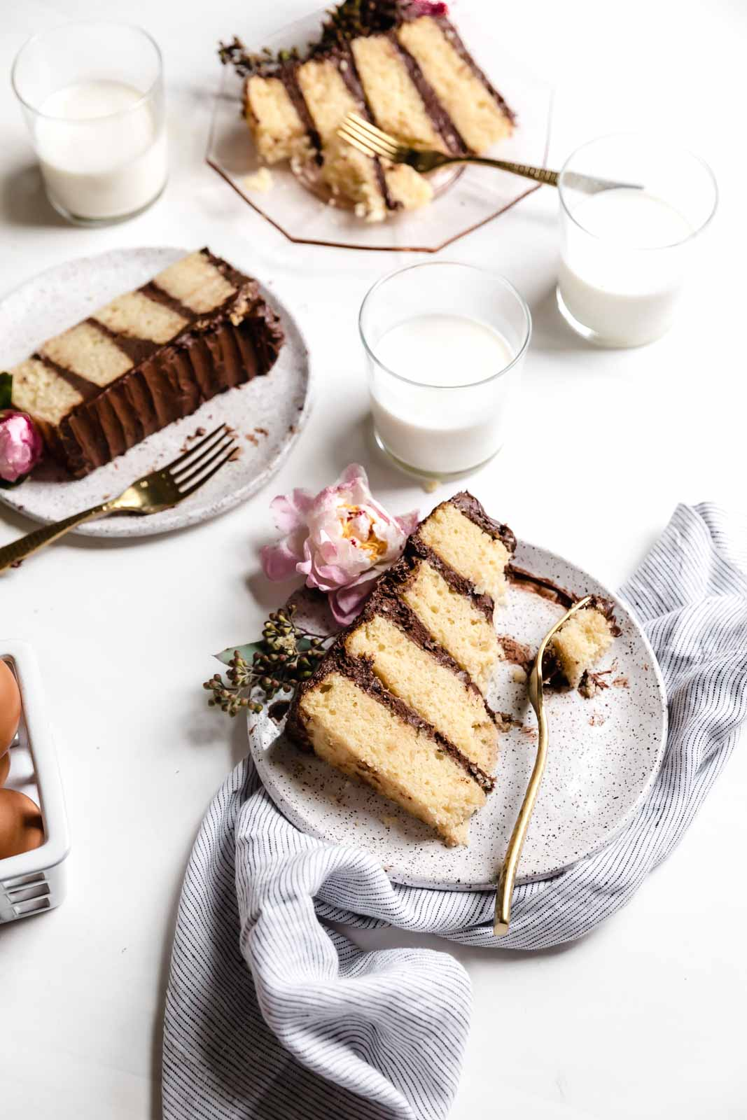 Make any day feel like a birthday with the best ever vanilla cake with chocolate frosting. This cake IS the celebration!