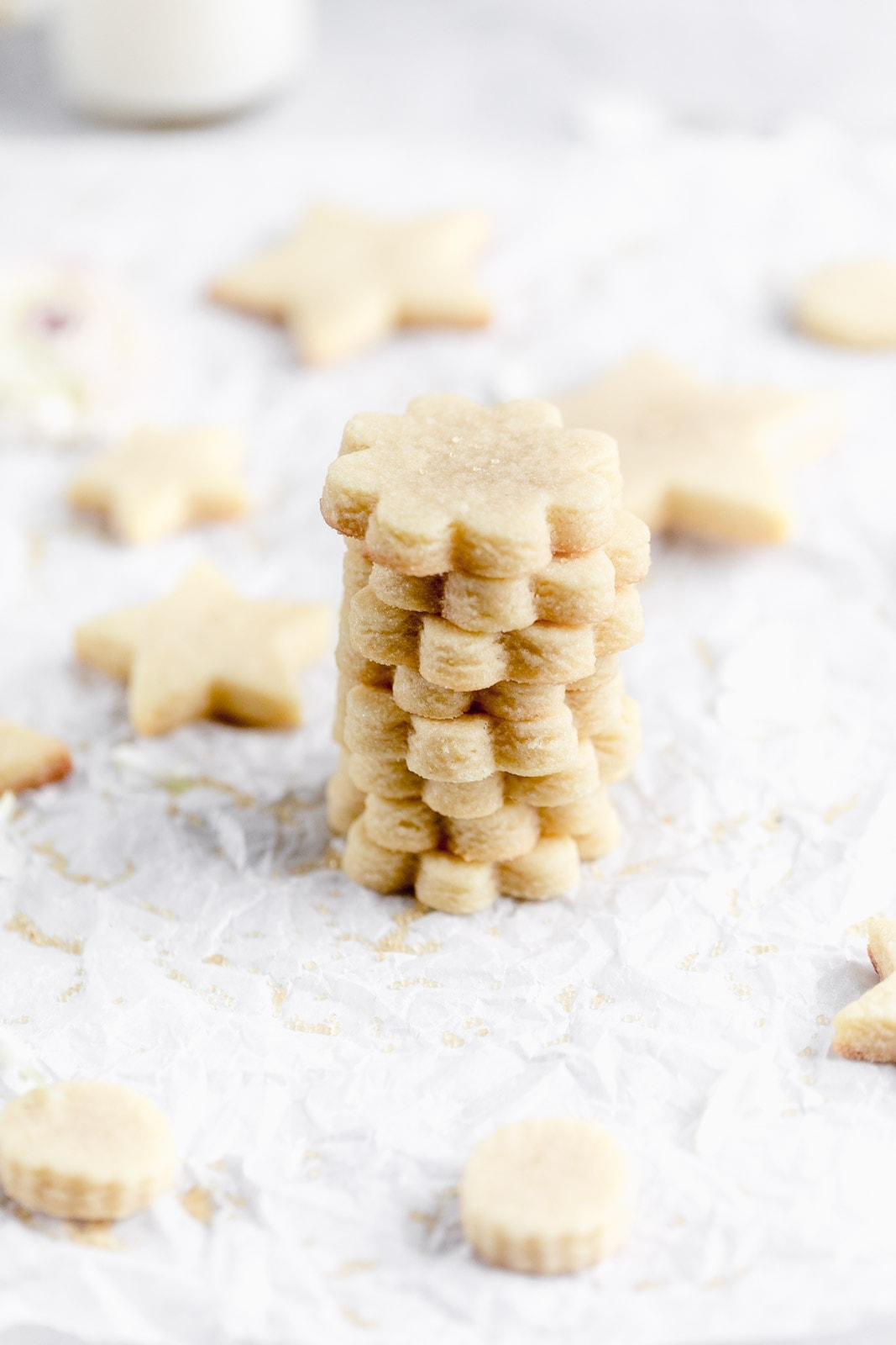 Get back to basics with these perfect cut out sugar cookie. Dense, and chewy, with a crispy edge and a gooey center, you won't be disappointed!