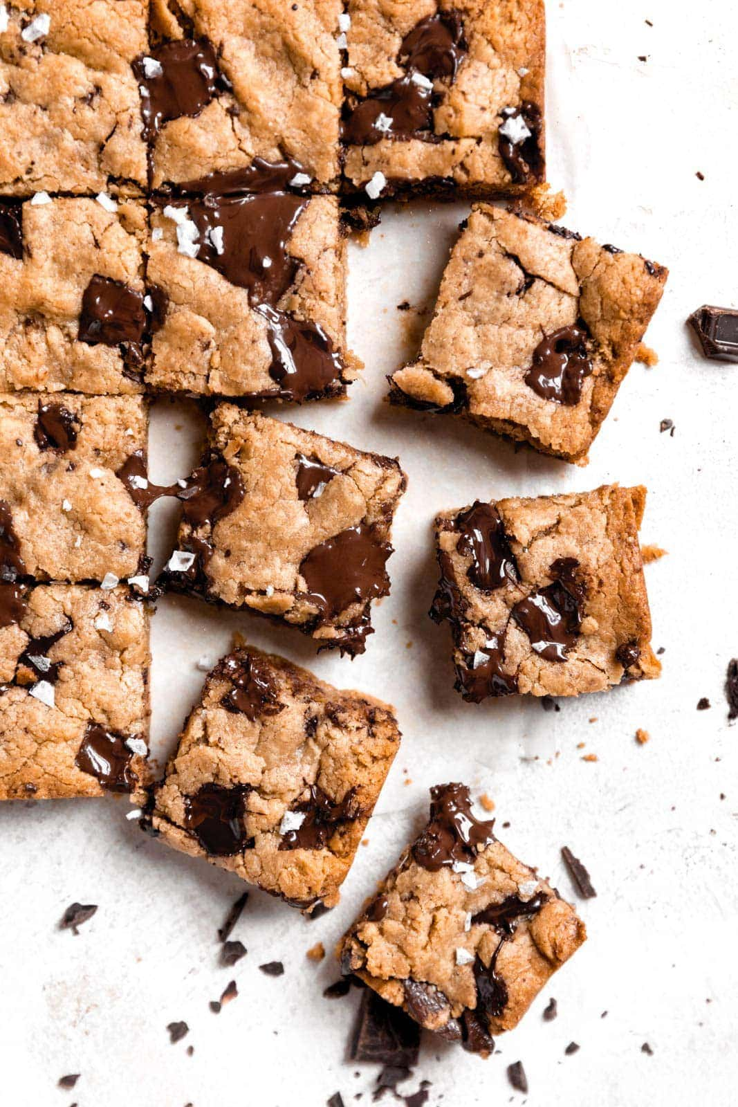 These Chocolate Chip Tahini blondies are what gooey, buttery, chocolatey dreams are made of it.