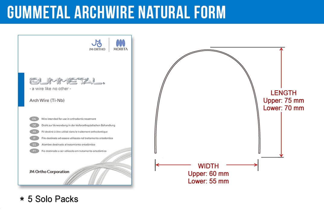 GUMMETAL Natural Arch Wire1-Nudent