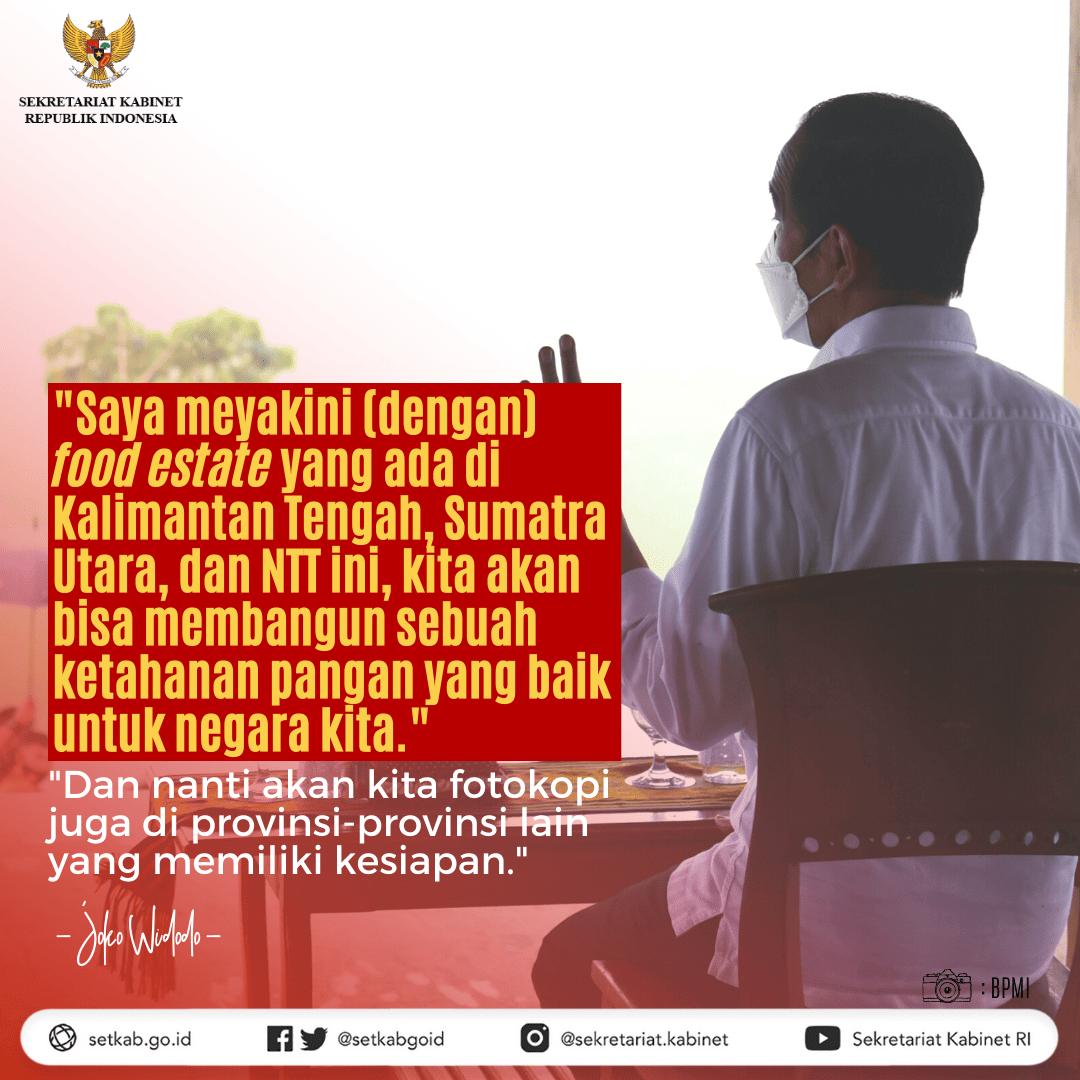 Pesan Presiden RI saat meninjau lumbung pangan di Kabupaten Sumba Tengah, Nusa Tenggara Timur, Selasa (23/02/21)