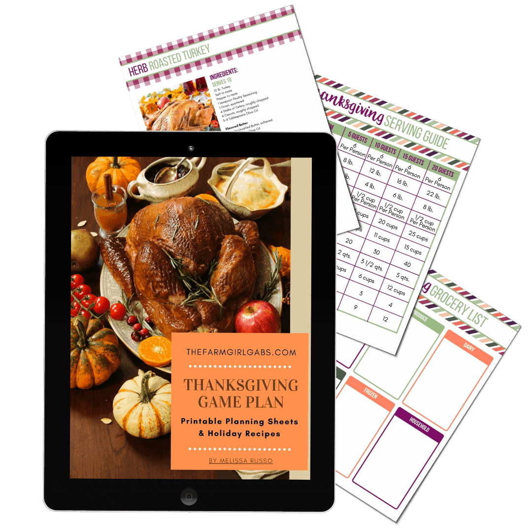 Thanksgiving Game Plan Printable Thanksgiving Planner