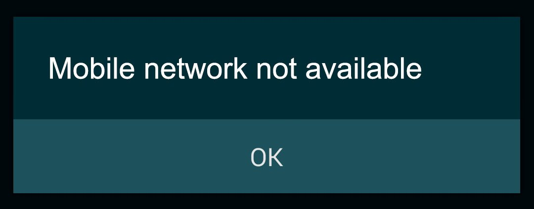"""How To Fix """"MOBILE NETWORK NOT AVAILABLE"""" error in Android 45"""