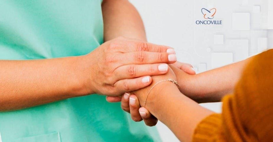 enfermagem oncoville pacientes tratamento de radioterapia câncer na região de Cabeça e Pescoço