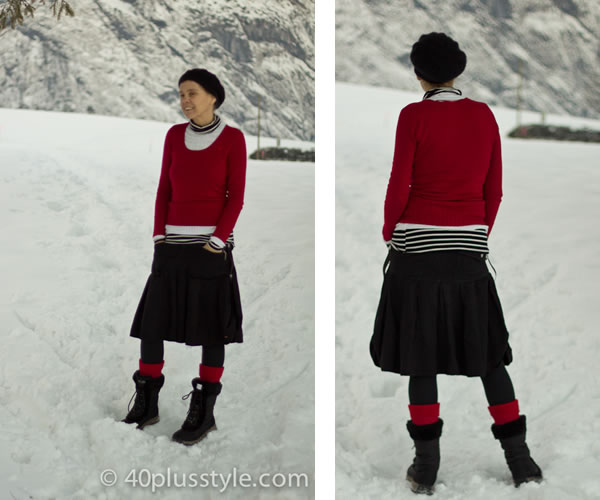 A winter outfit fit for the snow