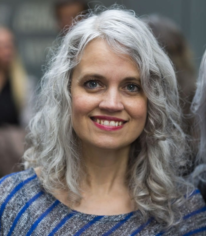 Celebrating women over 40 with long gray hair!