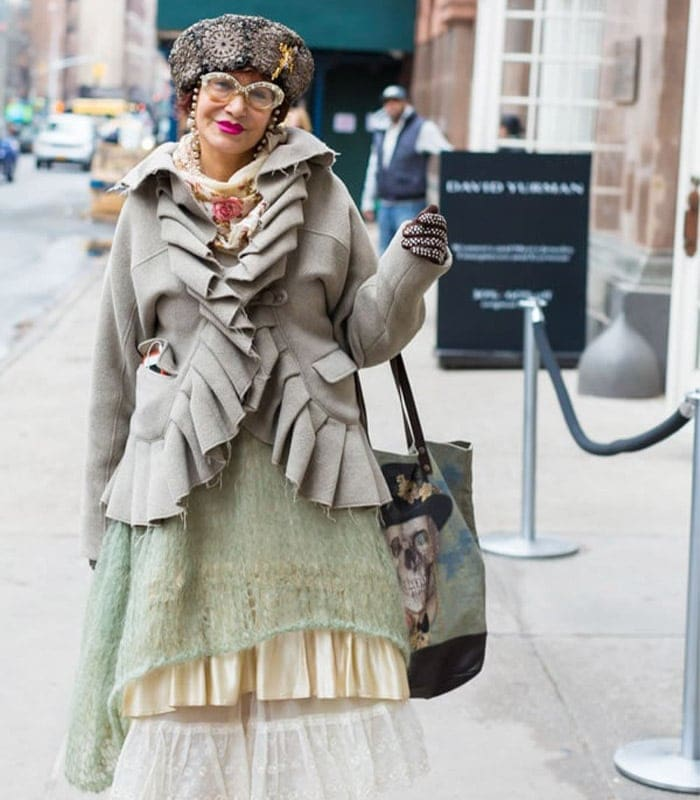 Fabulous vintage inspired street style at the Manhattan Vintage Show!