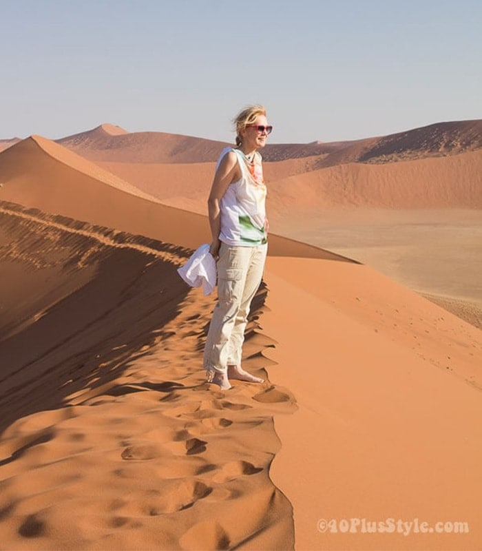 What I wore in Sossusvlei in Namibia, Africa