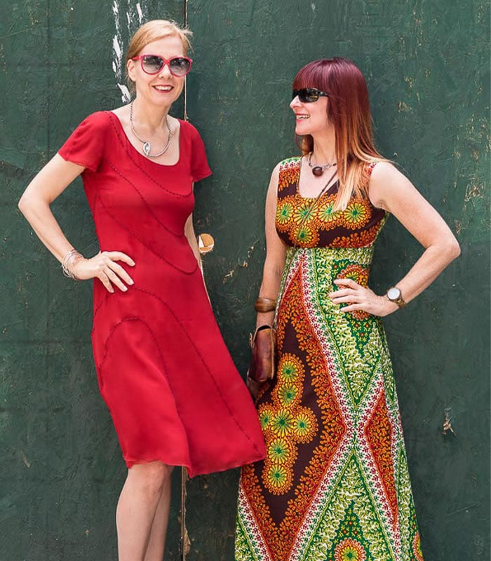 Suzanne and I sporting a reggae vibe at the Fabulous Fashionistas event