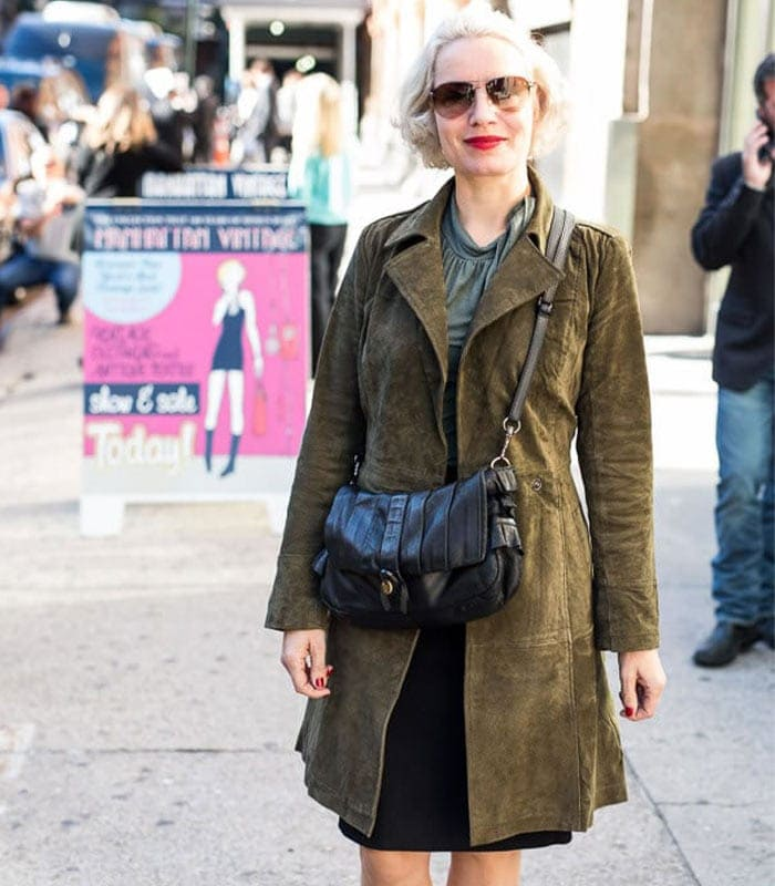 The best neutral looks spotted at the Manhattan Vintage Show! Which is your favorite look?