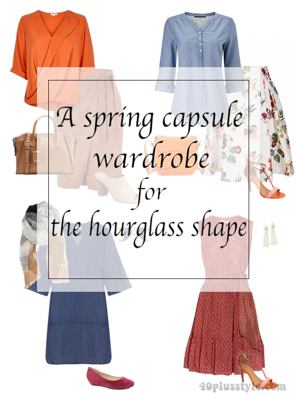 A spring capsule wardrobe for the hourglass body shape