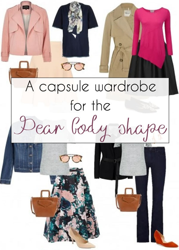A capsule wardrobe for the pear body shape