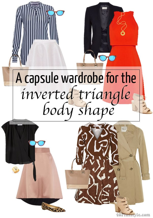 A capsule wardrobe for the inverted triangle body shape