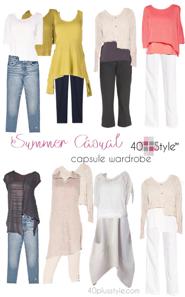 A casual chic capsule wardrobe for summer – no need to compromise comfort for style!