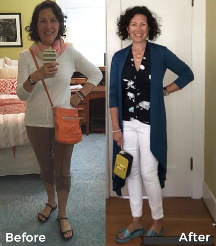 Before and after the 21 steps style course – Loving these style transformations!