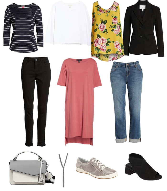 A capsule wardrobe for easter break – 11 items create 9 unique outfits!