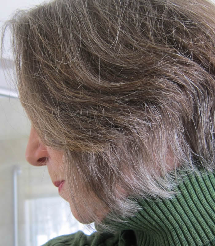 How to transition into gray hair – Elaine's journey from colored hair to natural (part 3)