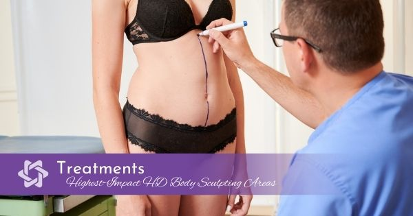 Highest-Impact HD Body Sculpting Areas